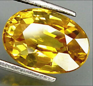 #UNHEATED YELLOW SAPPHIRE OVAL SHAPE AAA NATURAL LOOSE GEMSTONE 1014MM