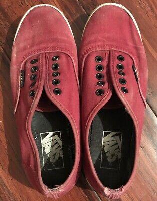 Vans Maroon Burgundy Sneakers Mens Size