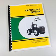 Operators Manual For John Deere 8850 Tractor Owners Maintenance Om Rw16848 L1
