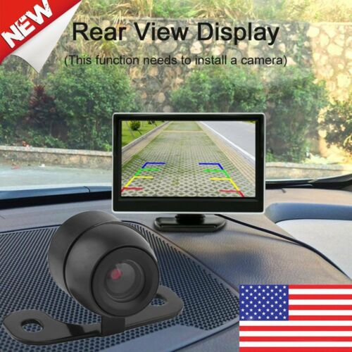 """5/""""TFT-LCD Monitor Car Rear View System Backup Reverse Camera Night Vision Kit B2"""
