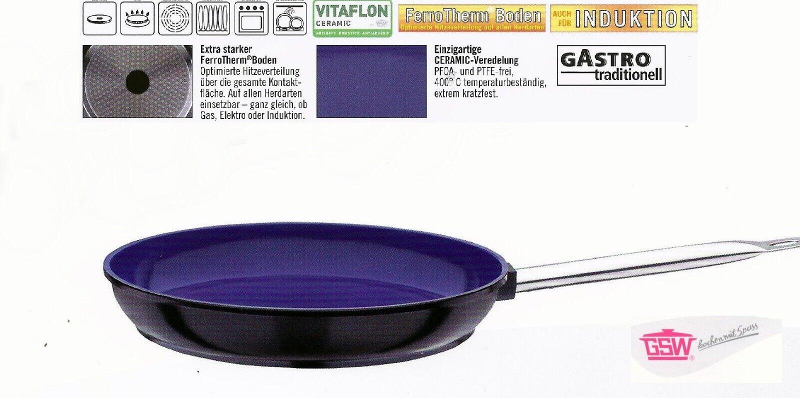 Bratpfanne Pfanne Ceramica 24cm Gastro Aluguss Antihaft Induktion GSW - 160612