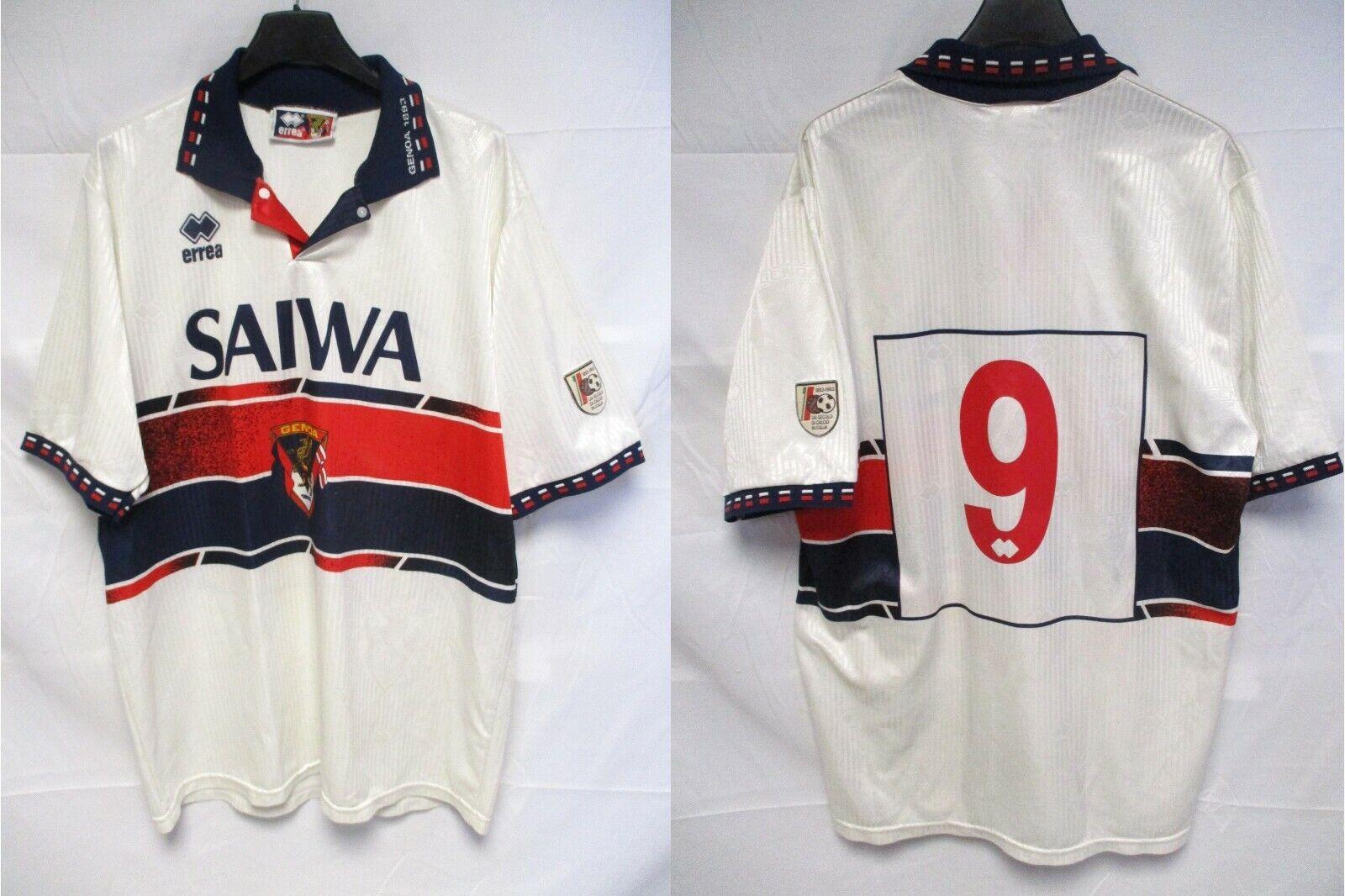 Maillot GENOA n°9 1993 1994 maglia vintage ERREA centenario away shirt M   L