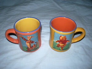 """ 2 Mugs Officiel Disneystore Winnie The Pooh Et Tigrou 9.5 Cm Disney PréVenir Et GuéRir Les Maladies"