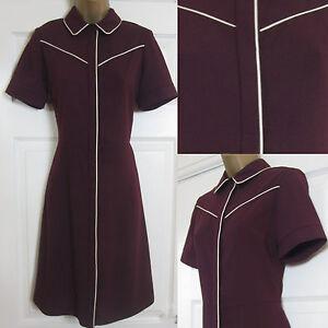 Tea New Dorothy Smart Ladies rosso 6 bordeaux Shirt 22 Dress Perkins Office cIArc