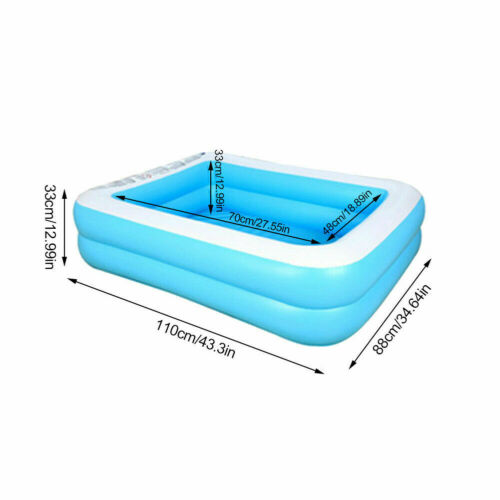 NEW Inflatable Swimming Pool High capacity Family Kid Pools Outdoors Ground Pool