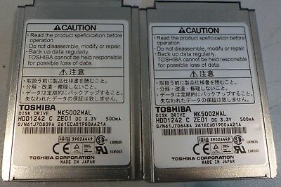 2 Toshiba MK5002MAL 5 GB Hard Drives For 1st Generation IPod