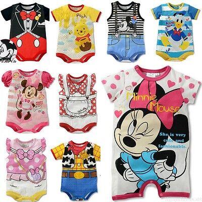 Infant Baby Kids Boys Girls Rompers Jumpsuit Popular Cartoon Cotton 6-24 Months