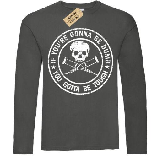 Jackass T-Shirt Mens long sleeve SCREEN PRINT Movie//Mtv//Stunt//Ryan Dunn//Jack Ass