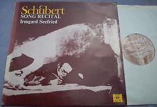 IRMGARD SEEFRIED Schubert Song Recital UK STEREO 1974 NEAR MINT