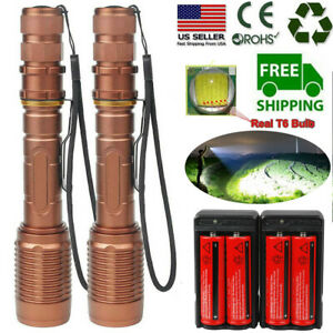 Tactical-350000Lumens-T6-5Modes-LED-18650-Flashlight-Aluminum-Zoomable-Torch-US