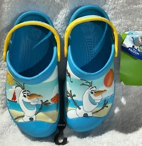 55936d4a2 Image is loading KIDS-CROCS-FROZEN-OLAF-CLOG-REG-36-99-
