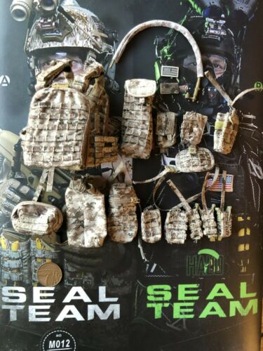 Mini Times US Navy Seal Team Six M012 Tactical Vest /& Pouches loose 1//6th scale