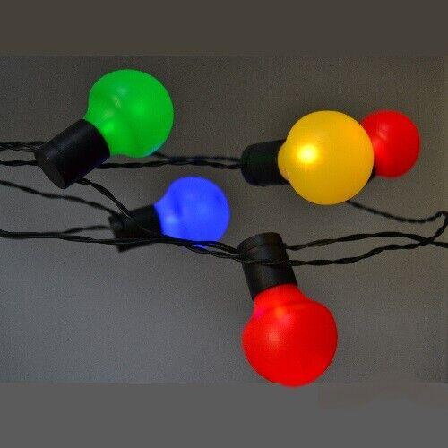 LED-Party-Lichterkette 50er Kugelornament 12,25m bunt außen FHS 11581  | Wonderful