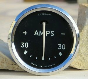 Smiths-Lucas-Amps-Gauge-Amperometro-Triumph-MGA-Aston-Martin-Sunbeam