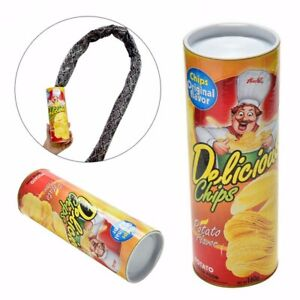 Image Is Loading Potato Chip Snake In A Can Gag Gift