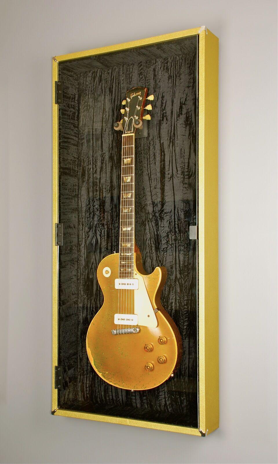 Gold Tolex Guitar Display Case Cabinet