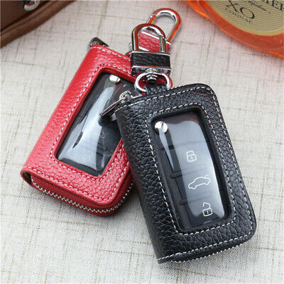Leather Transparent Car Key Bag Purse Fashion Zipper Key Case Holders Key BagFY