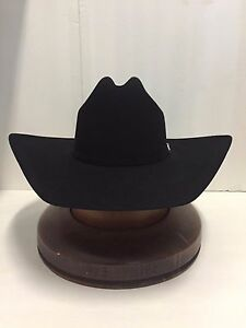 25fecb395 Stetson Cowboy Hat 6X Beaver Fur Black High Noon W/Free Hat Brush ...