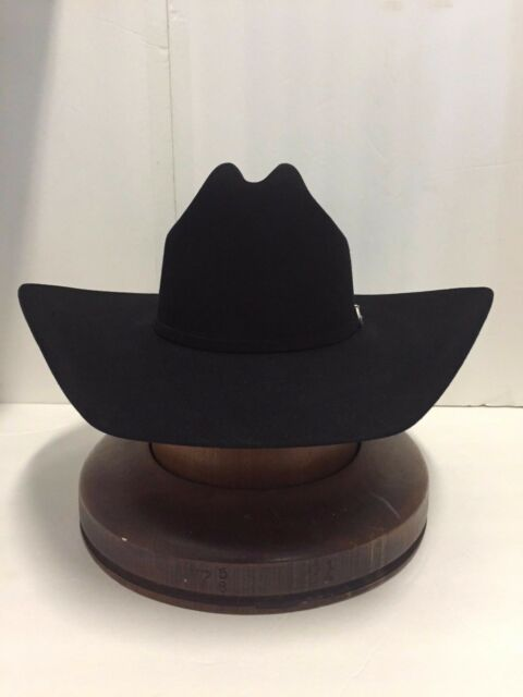 3f12b057d0a Stetson Cowboy Hat 6x Beaver Fur Black High Noon W  Hat Brush No Tax ...
