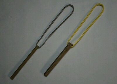 """Marlin spike toggles pair with 5/"""" continuous loop for hammock suspension yellow"""