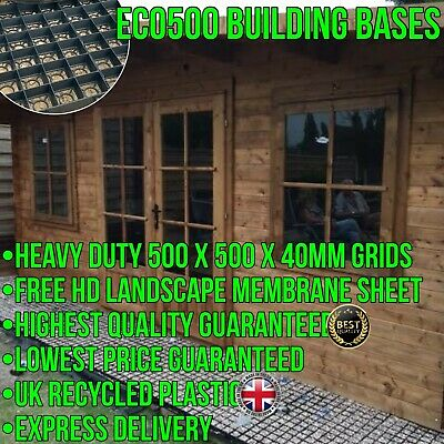 with Included Membrane Eco Deck Garden Shed Base Reinforced Gravel Grids Eco Friendly Base Grid 16x8 Feet