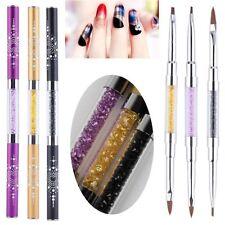 3 Stück Set Gelpinsel & Acrylpinsel Nagel Pinsel Nail Art  Nageldesing Gel Brush