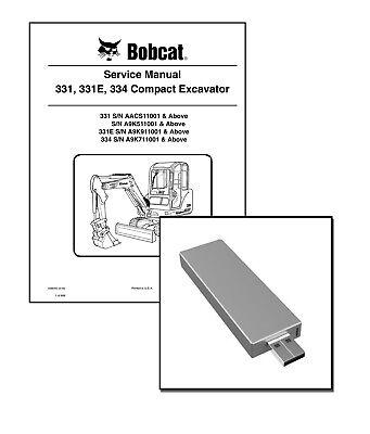 Bobcat 331 E 334 Compact Excavator Service Repair Manual USB Stick Download EBay