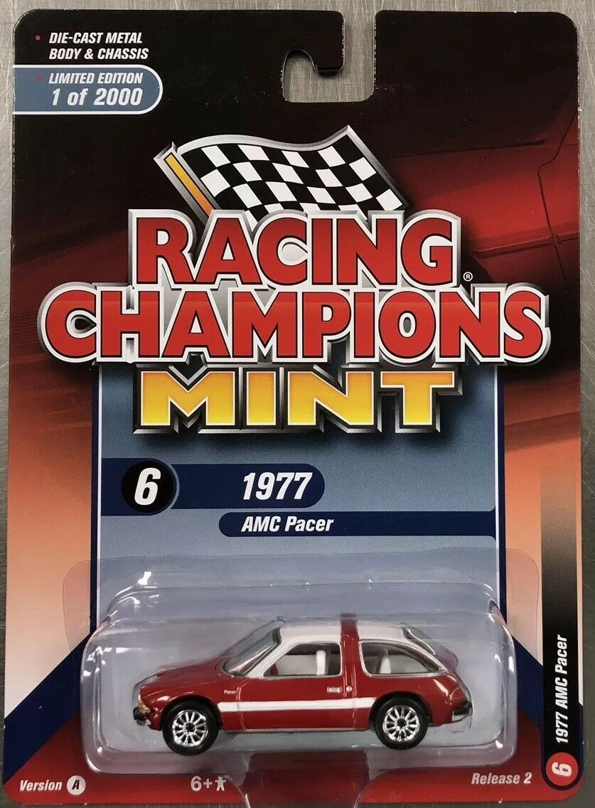 RACING CHAMPIONS MINT 1977 AMC PACER RED RELEASE 2 VERSION A FREE SHIPPING.