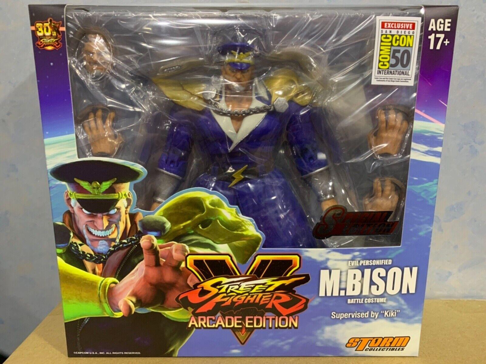 (en Stock) tormenta Coleccionables (San Diego comic-con 2019 exclusivo) Street Fighter V M Bison