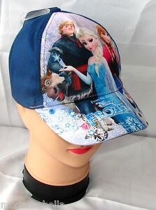 FROZEN-BIG-cappello-con-visiera-Estivo-Bambina-Baseball-tg-52-e-54-blu-scuro