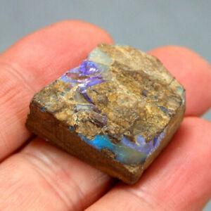 Boulder-Opal-with-Blue-Purple-Fire-Queensland-Australia-Unpolished-9-8g-25mm