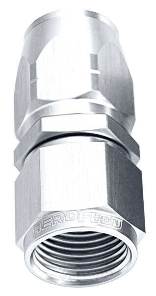 Aeroflow Alloy Straight Hose End -16AN Silver Cutter Style Swivel Nut AF501-16S