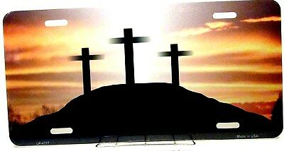 Novelty Custom Religious license plate  Cross at Sunrise new aluminum auto tag