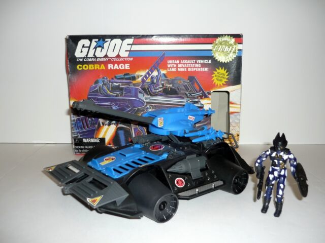 GI JOE COBRA RAGE Vintage Action Figure & Vehicle COMPLETE w/BOX 1997