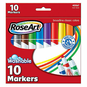 Rose Art Broadline Classic Colors 8 Count Washable Markers NEW Supplies