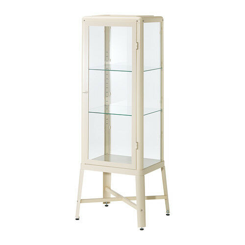 Ikea Fabrikor Glass Door Cabinet Beige Display Case Ebay