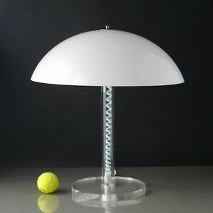 70s-Plexi-Acryl-Tischlampe-Pilzlampe-Harco-Loor-NL-Dutch-Design-Mushroom-Lamp