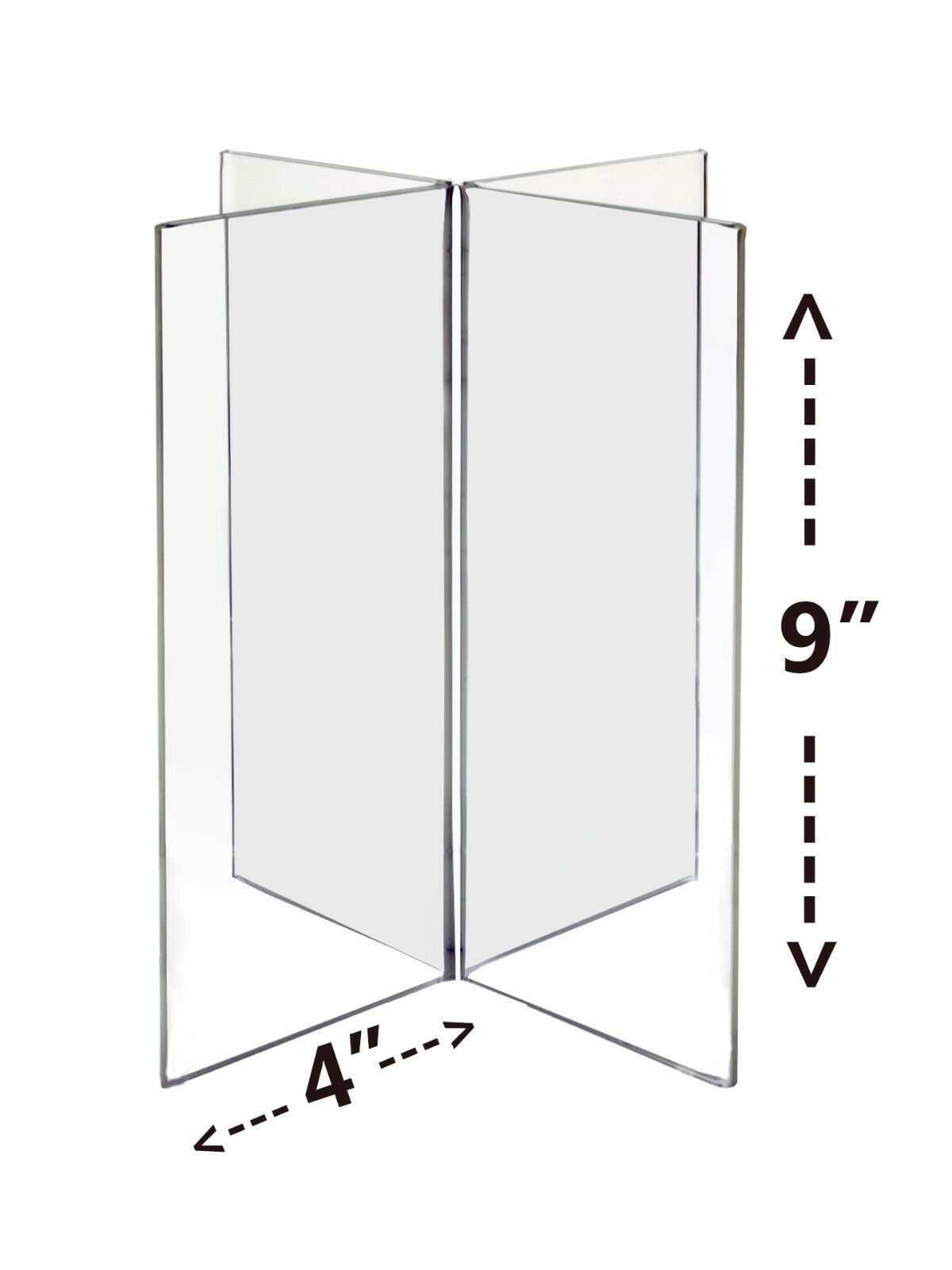Lot of 12 Four - Panel 4  x 9 Table Top Tent Literature Sign Holder AD Frame