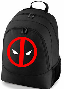 Image Is Loading Deadpool Logo Marvel Comics School College Sports Bag