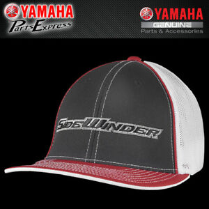 3d633637fc33b NEW YAMAHA LARGE X-LARGE FITTED SIDEWINDER MESH HAT RED BLACK SMB ...