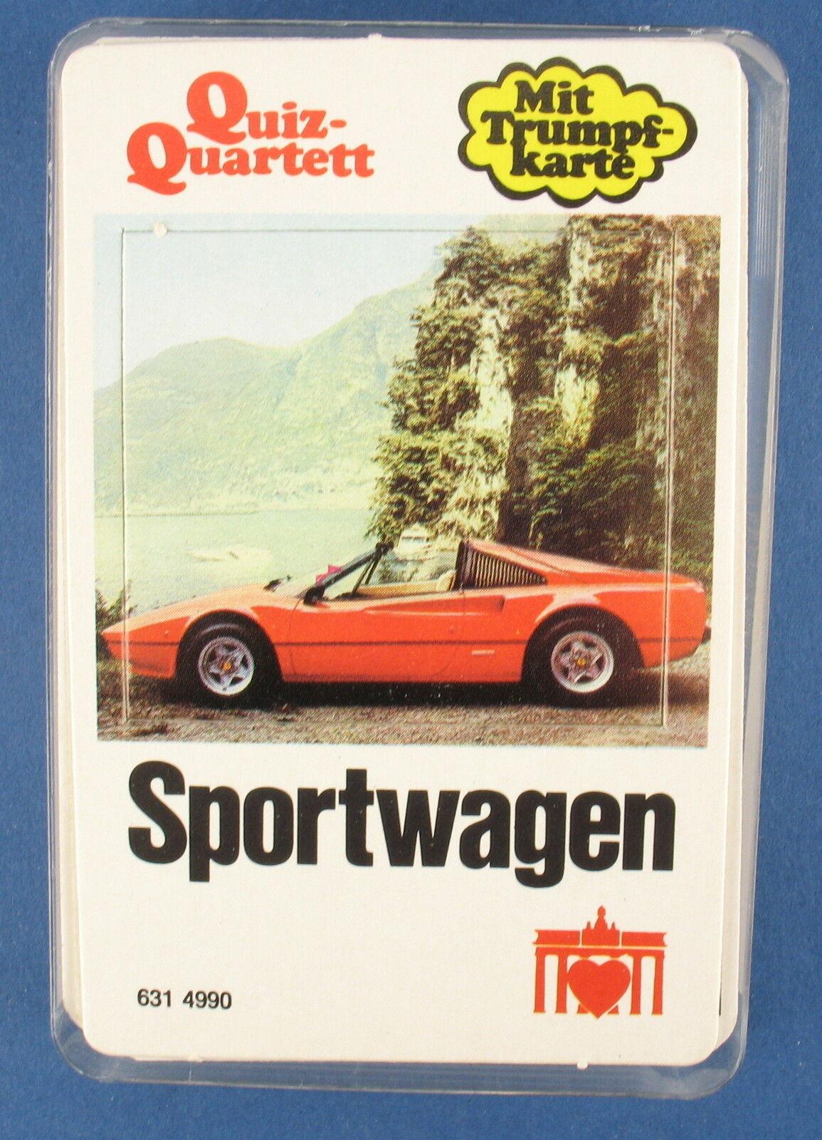 Quiz-Quartetto-auto sportiva di Berlino-Carte da gioco-nr 631 - 4990 di 1979 auto