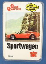Quiz-Quartett - Sportwagen - Berliner Spielkarten - Nr 631 4990 - von 1979  Auto