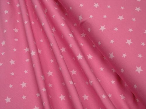 étoiles 0,5 m en coton jersey blanc sur ROSA Jersey little darling