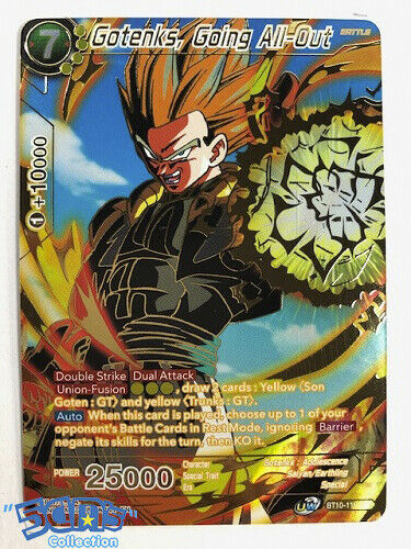 Going All Out Gotenks Bt10 110 Spr Rise Of The Unison Warrior Dbs Toys Hobbies Collectible Card Games