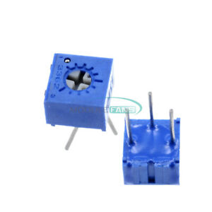 10PCS 3362P-104 100K Ohm 3362P Trimpot Trimmer Potentiometer NAHASN
