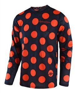 Troy-Lee-Designs-2018-GP-Air-Youth-Polka-Dot-Navy-Orange-Race-Jersey-Shirt-Motoc