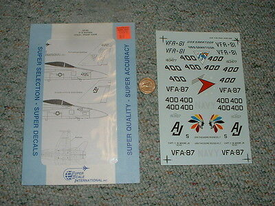 SuperScale  decals 1//32 32-83 F//A-18 Hornets VFA-137 CAG VX-4   N61