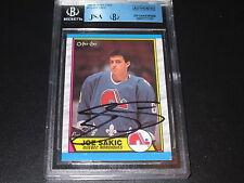 JOE SAKIC AUTOGRAPHED 1989-90 O-PEE-CHEE ROOKIE CARD-JSA/BGS SLAB