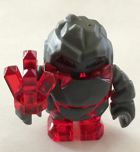 BRAND-NEW-LEGO-RED-Rock-Monster-MELTROX-with-RED-CRYSTAL-GEM-Rock