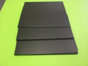 "BLACK POLYSTYRENE PLASTIC SHEET 0.020"" YOU PICK THE SIZE - VACUUM FORMING"